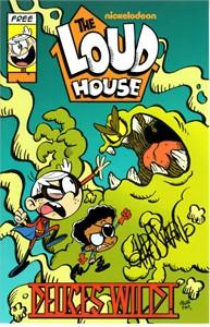 Chris Savino autographed The Loud House mini Nickelodeon promo comic book