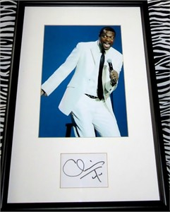 Chris Tucker autograph matted & framed with GQ magazine cover