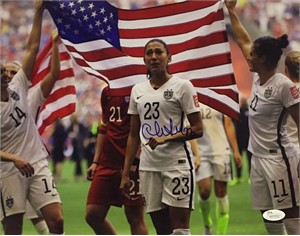 Christen Press autographed 2015 Women's World Cup celebration 11x14 photo JSA
