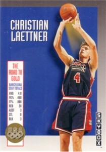 Christian Laettner 1992-93 SkyBox USA Olympic Team insert card