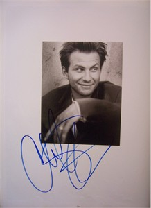 Christian Slater autographed 11x14 Rolling Stone book photo
