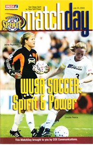 Christie (Pearce) Rampone & Jaime Pagliarulo 2003 WUSA San Diego Spirit program