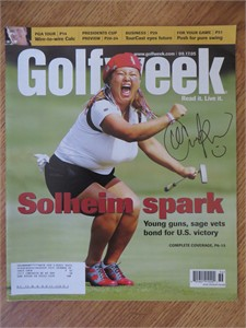 Christina Kim autographed 2005 Solheim Cup Golfweek magazine