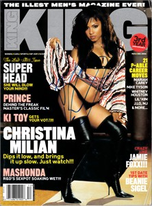 Christina Milian autographed 2004 King magazine