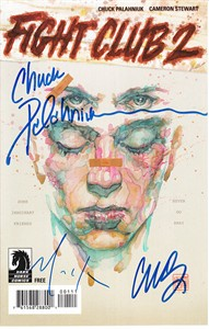 Chuck Palahniuk autographed Fight Club 2 2015 Comic-Con Dark Horse mini comic book