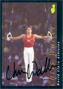 Chris Waller autographed 1992 Classic World Class Athletes card