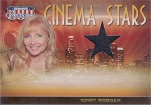 Cindy Morgan (Caddyshack) worn shirt swatch Donruss Americana card #420/500