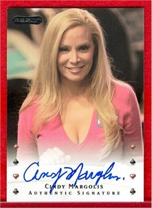 Cindy Margolis certified autograph Razor poker card