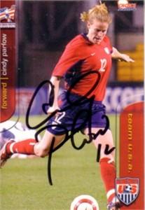Cindy Parlow autographed 2004 U.S. Soccer card