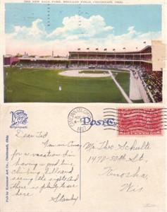 Cincinnati Reds Redland Field 1912 postcard