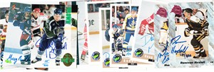 11 different 1991-1995 Classic hockey certified autograph hockey cards