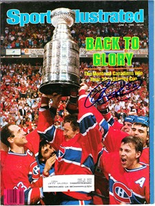 Claude Lemieux autographed Montreal Canadiens 1986 Stanley Cup celebration Sports Illustrated