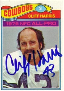 Cliff Harris autographed Dallas Cowboys 1977 Topps card