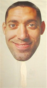 Clint Dempsey face U.S. Soccer promotional cardboard fan MINT