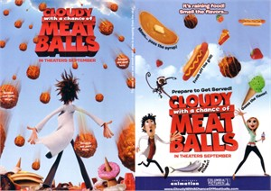 Cloudy with a Chance of Meatballs movie 5x7 scratch and sniff promo flyer