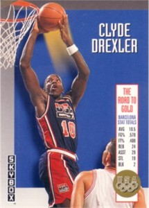 Clyde Drexler 1992-93 SkyBox USA Olympic Team insert card