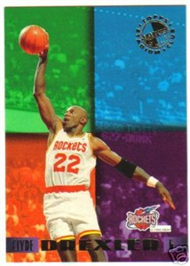 Clyde Drexler Rockets 1995 Stadium Club Members Only card