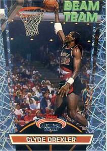 Clyde Drexler 1992-93 Stadium Club Beam Team insert card