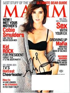Cobie Smulders autographed 2010 Maxim magazine cover