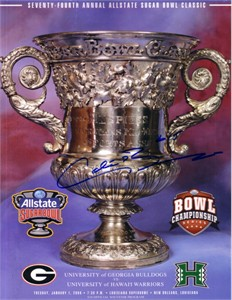 Colt Brennan autographed 2008 Sugar Bowl program
