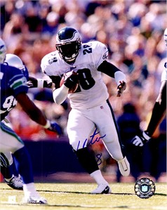 Correll Buckhalter autographed 8x10 Philadelphia Eagles photo
