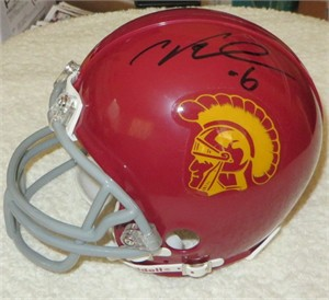 Cody Kessler & Max Tuerk autographed USC Trojans mini helmet