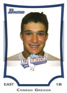 Conrad Gregor 2009 AFLAC Bowman Rookie Card