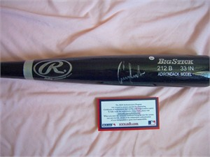 Conor Jackson autographed Rawlings Big Stick game model black bat (MLB authenticated)