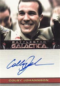Colby Johansson Battlestar Galactica certified autograph card