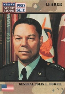 Colin Powell 1991 Pro Set Desert Storm card