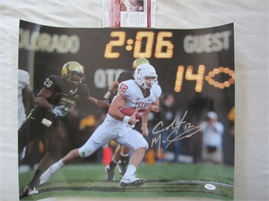 Colt McCoy autographed Texas Longhorns 16x20 poster size photo (JSA)