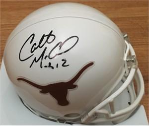 Colt McCoy autographed Texas Longhorns mini helmet