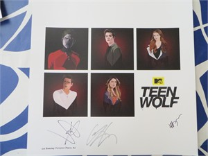 Dylan Sprayberry Cody Christian Jeff Davis autographed Teen Wolf 2015 Comic-Con lithograph or poster