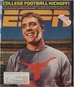 Colt McCoy autographed Texas Longhorns 2009 ESPN Magazine