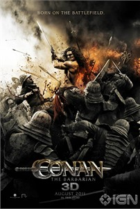 Conan the Barbarian mini 2011 movie poster (wielding sword)
