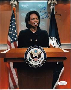 Condoleezza Rice autographed 8x10 Secretary of State photo (JSA)