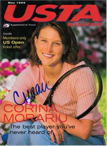 Corina Morariu autographed 1999 USTA tennis magazine