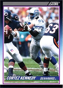 Cortez Kennedy Seattle Seahawks 1990 Score Supplemental Rookie Card #68T