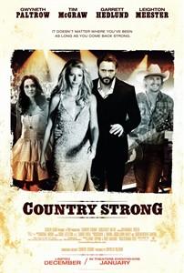 Country Strong 2010 movie 4x6 inch promo card (Gwyneth Paltrow Tim McGraw)