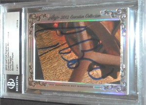 Craig Biggio certified autograph 2012 Leaf Executive Masterpiece Cut Signature card #1/1
