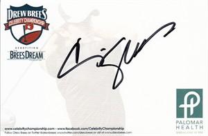 Craig Shoemaker autographed 4x6 signature card