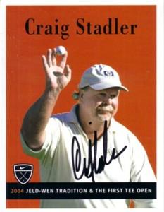 Craig Stadler autographed 2004 Nike Golf promo card