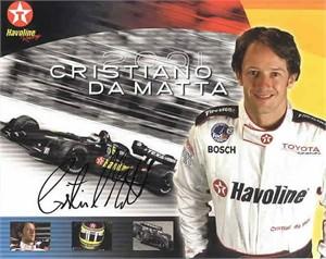 Cristiano da Matta autographed 8x10 photo card