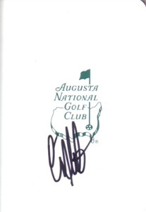 Craig Stadler autographed Augusta National Masters scorecard
