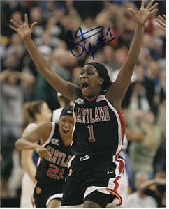 Crystal Langhorne autographed Maryland Terrapins 8x10 photo