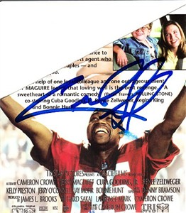 Cuba Gooding Jr. autographed Jerry Maguire VHS video box sleeve photo