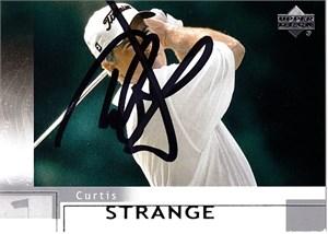 Curtis Strange autographed 2001 SP Authentic golf card