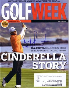 D.A. Points autographed 2011 Golfweek magazine