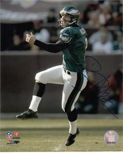 David Akers autographed 8x10 Philadelphia Eagles photo