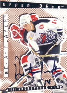 Dave Andreychuk certified autograph 1995 Be A Player card